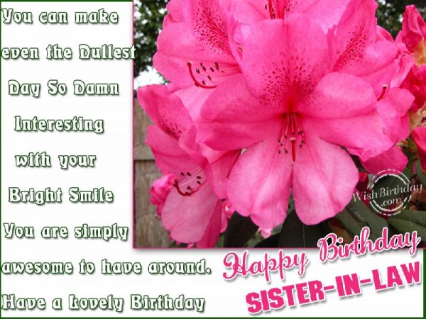 Have A Lovely Birthday Sister-in-law
