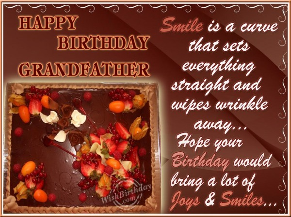 Best Wishes For A Loving Grandfather