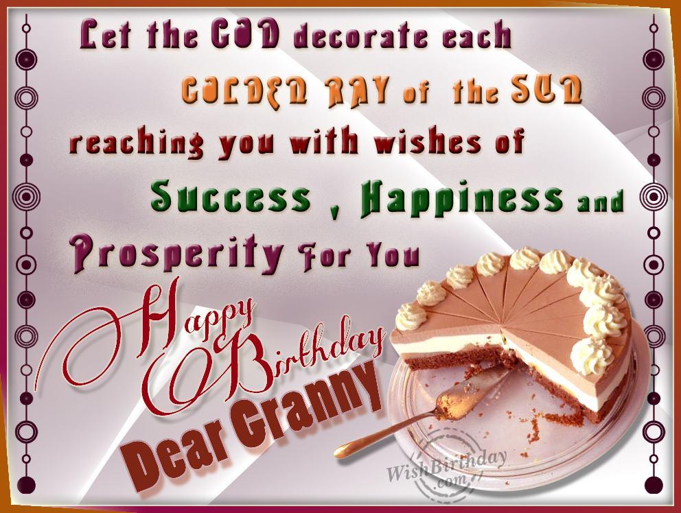 Birthday Wishes For Dearest Grandma Wishbirthday Com