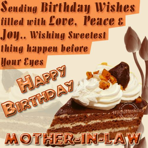 Wishing You Happy Birthday Dear Mother-in-law