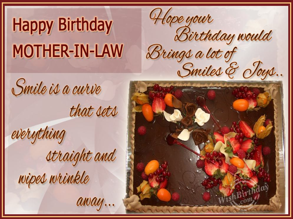 Happy Returns To A Caring Mother In Law Wishbirthday Com