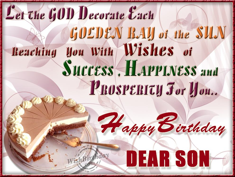 Happy Returns Of The Day To A Loveable Son