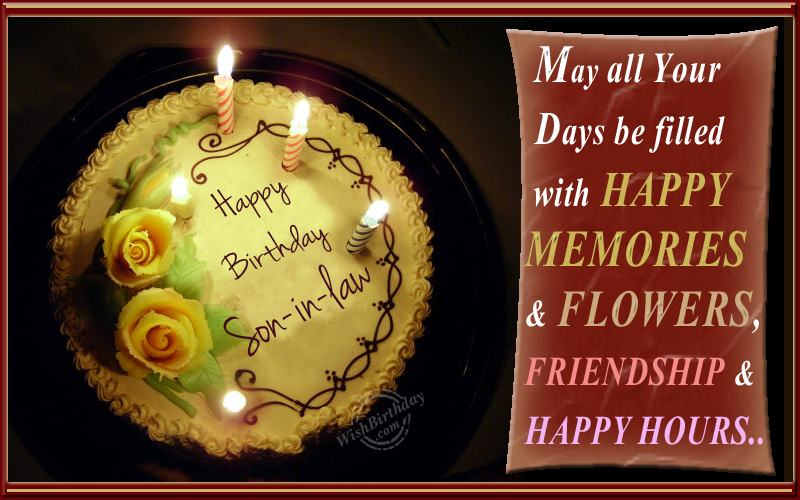 birthday wishes for son in law birthday images pictures on birthday cakes and wishes for son