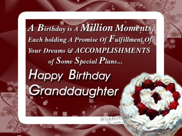 Wishing Happy Birthday To A Loving Grand daughter