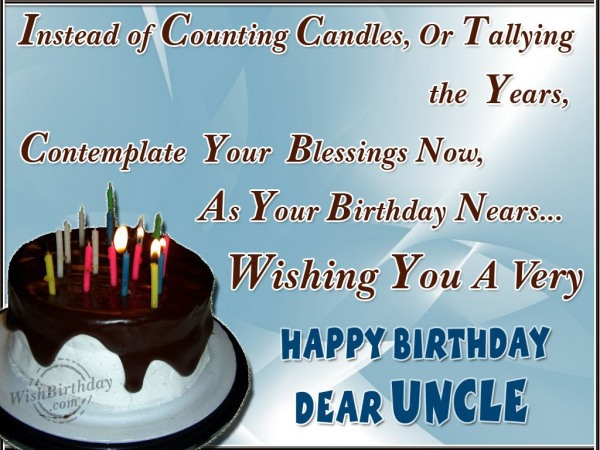 Happy Returns Of The Day To A Dear Uncle