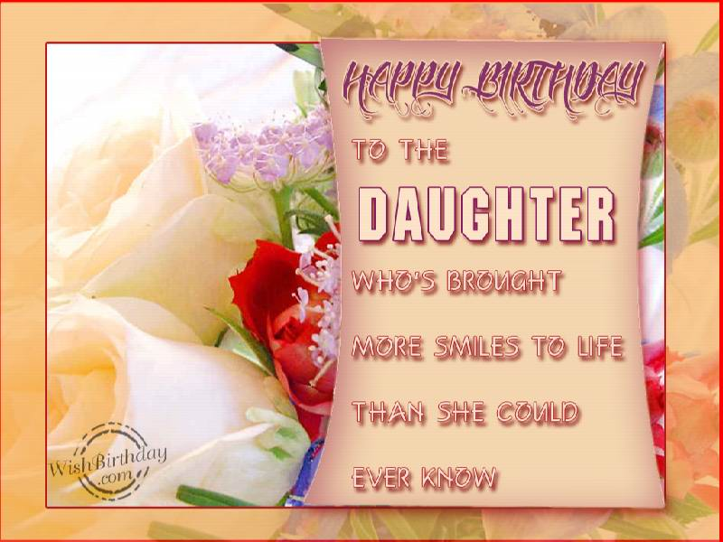 Happy Birthday Loving Daughter