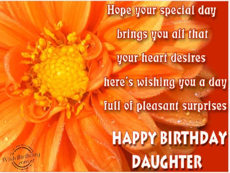 Happy Birthday Dear Daughter - WishBirthday.com