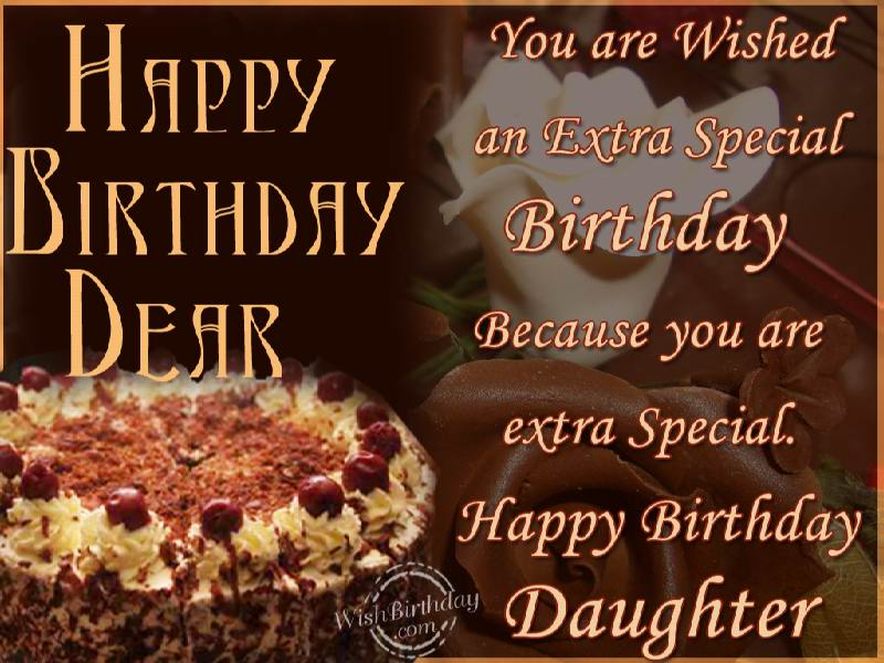 Happy Birthday To A Special Daughter - WishBirthday.com
