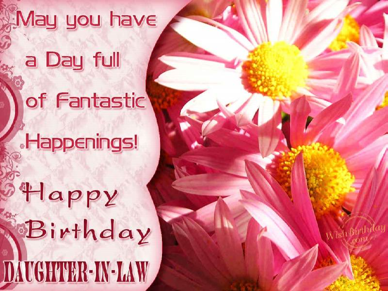 Happy Birthday To A Daughterinlaw WishBirthday – Happy Birthday Daughter in Law Cards
