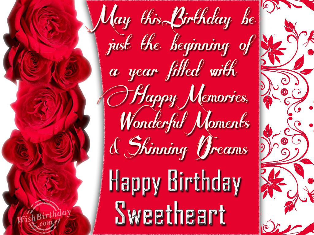 Birthday wishes for girlfriend birthday images pictures happy birthday sweetheart m4hsunfo