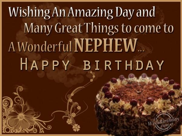 Happy Birthday My Wonderful Nephew