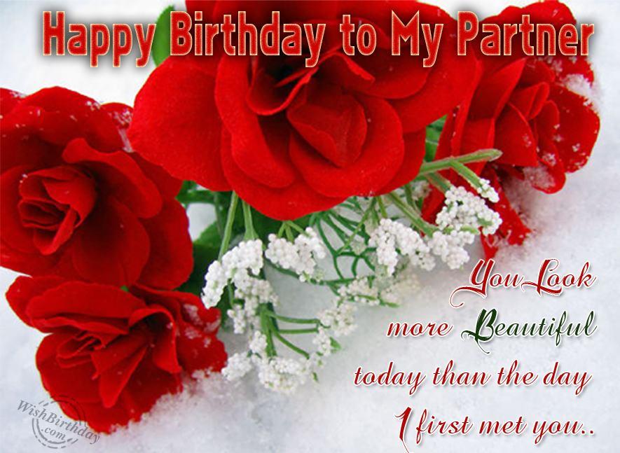 Happy Birthday To My Beautiful Partner