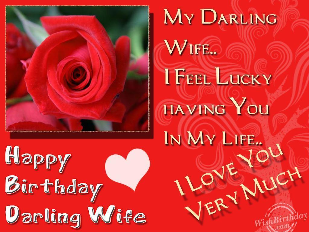 Happy Birthday My Darling Wife Wishbirthday Com