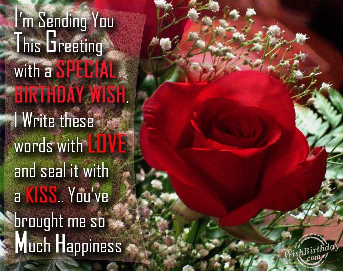 Birthday Wishes For Boyfriend Birthday Images Pictures – Special Birthday Greeting