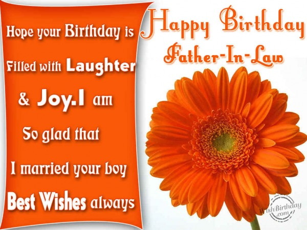 Birthday Wish To  Father-in-law From Daughter-in-law