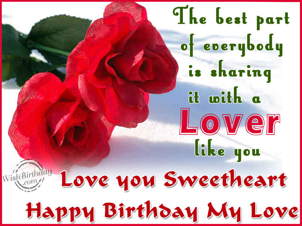 Wishing You A Happy Birthday Sweetheart - WishBirthday.com