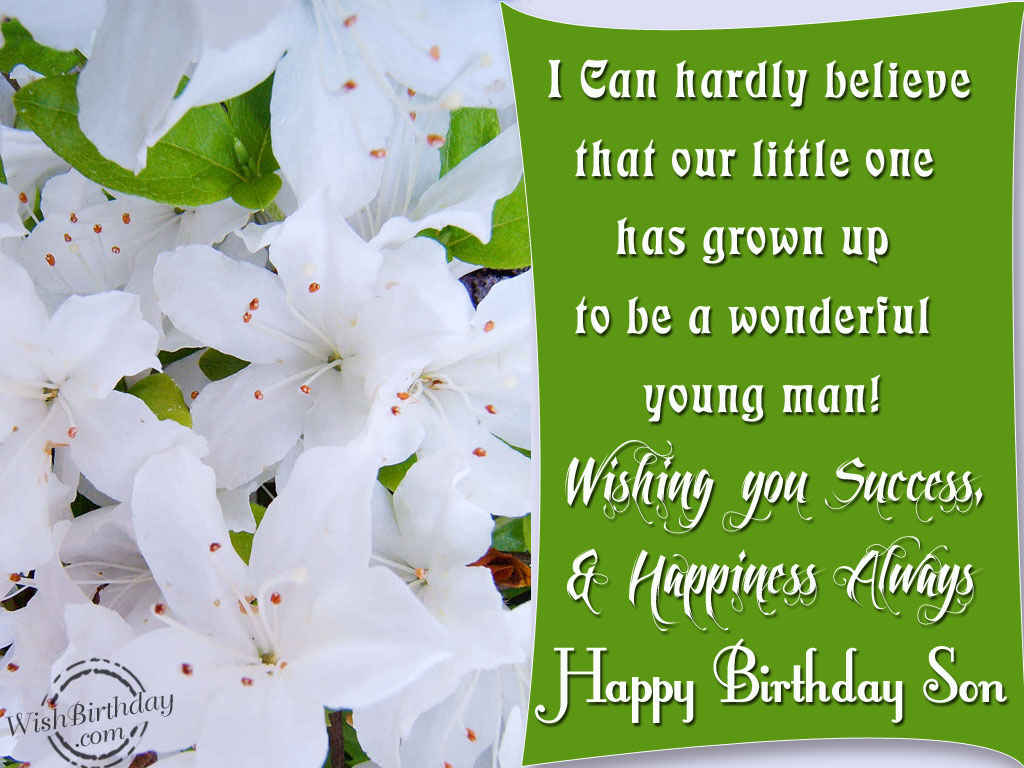 Birthday Wishes For Son Images Pictures
