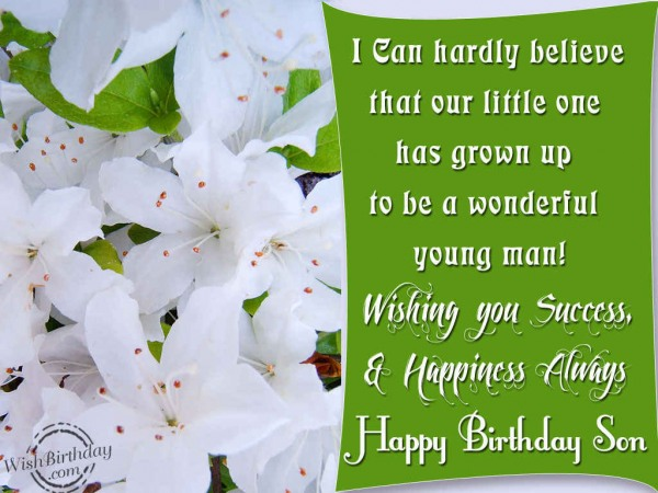 Wishing You A Very Happy Birthday Son