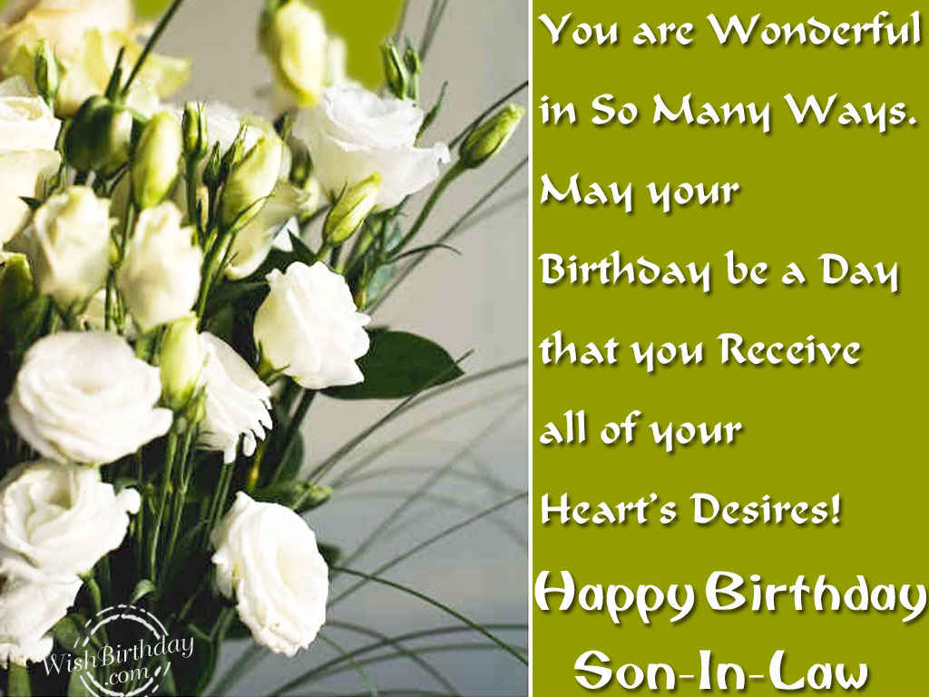 Happy birthday son in law wishbirthday com