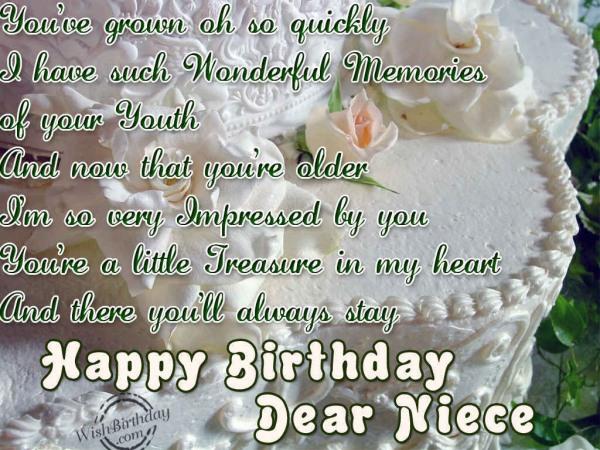 Happy Birthday Dear Niece