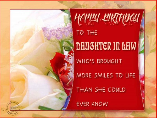 Happy Birthday To A Daughter-in-law