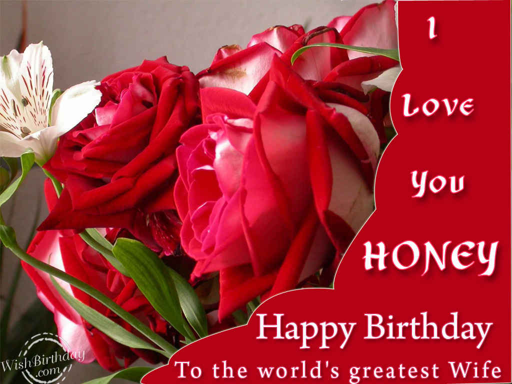 Birthday wishes for wife images pictures