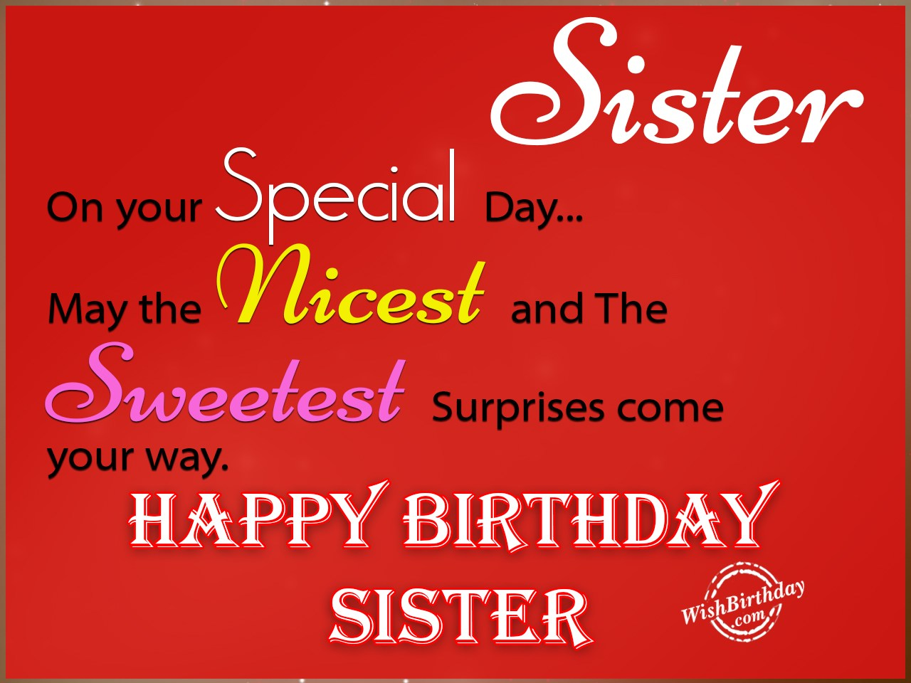 Birthday Wishes For Sister Birthday Images Pictures – Happy Birthday Greetings for Sister