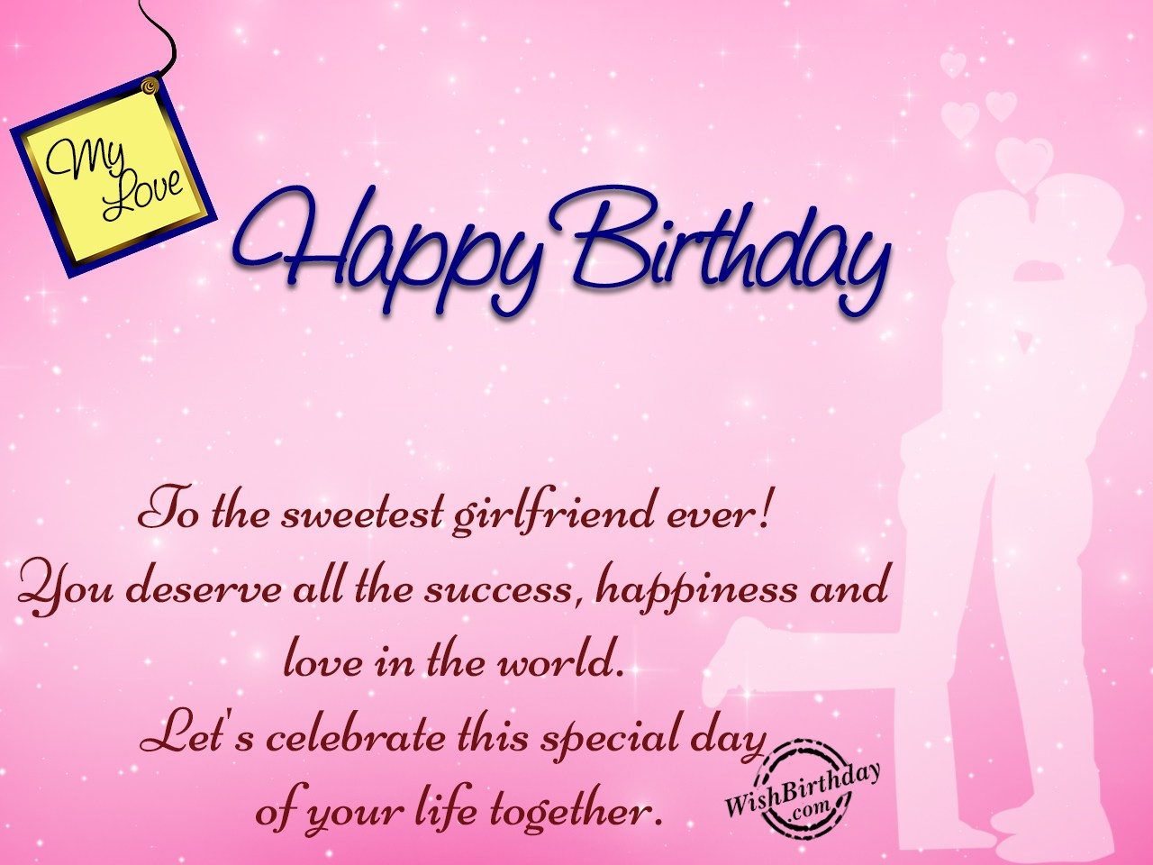 Happy birthday messages to my girlfriend