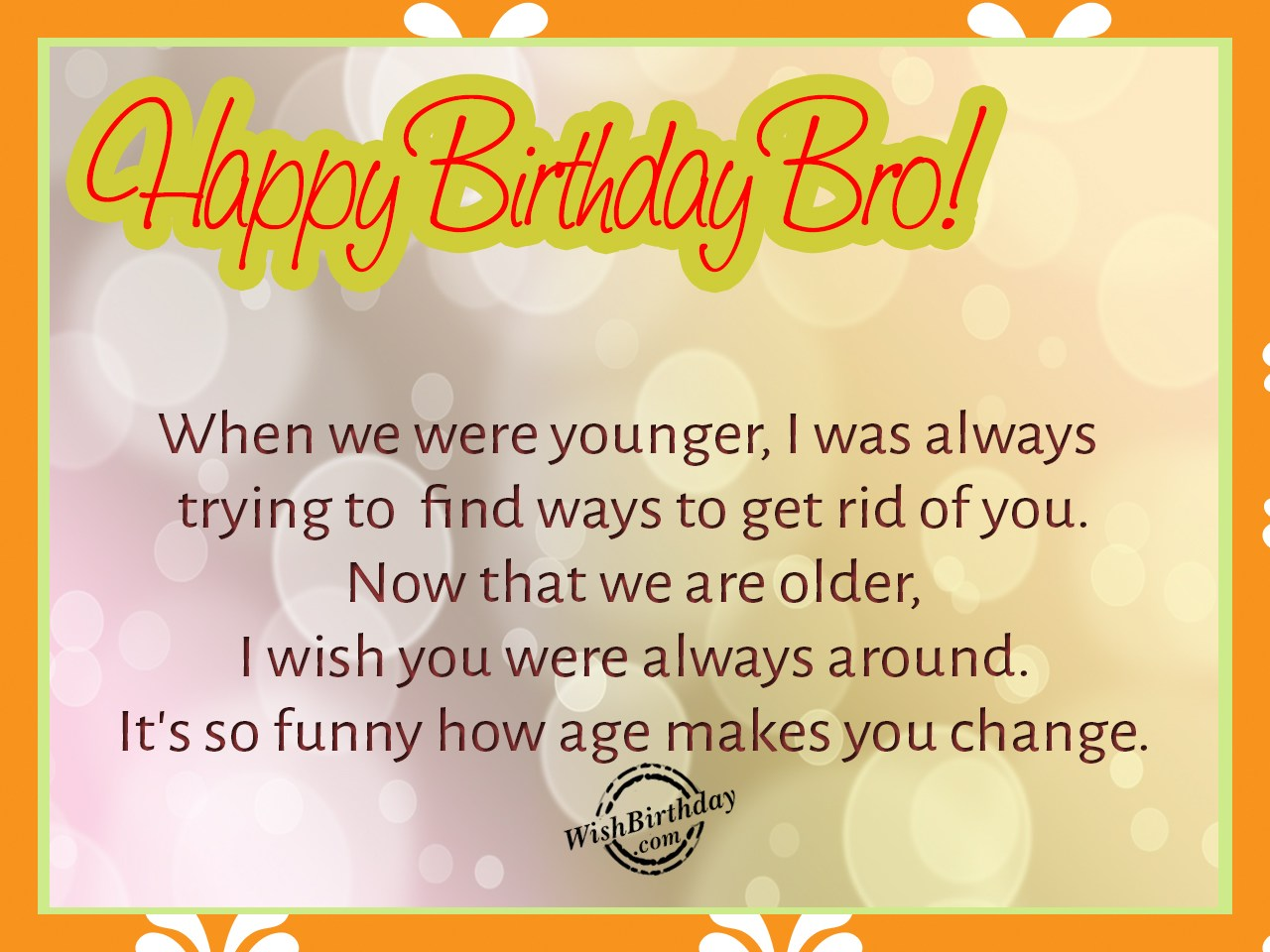 Best Of Happy Birthday Wishes For Younger Brother