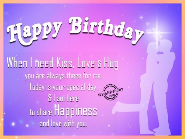Wishing Happy Birthday To My Love