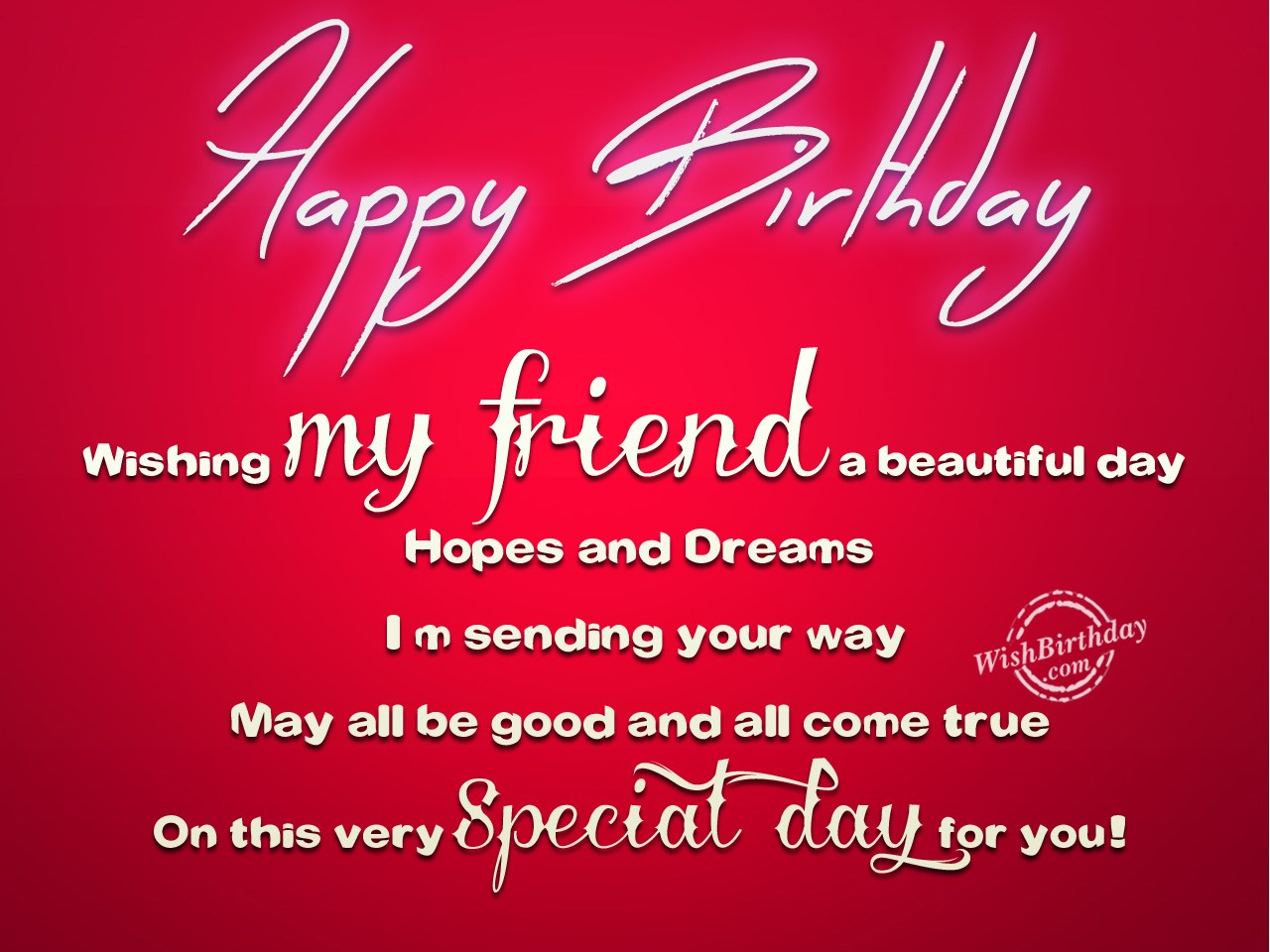 Birthday Wishes For Best Friend Birthday Images Pictures Wishing A Friend Happy Birthday On