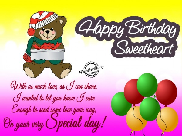 Wishing You Much Love On Your Special Day