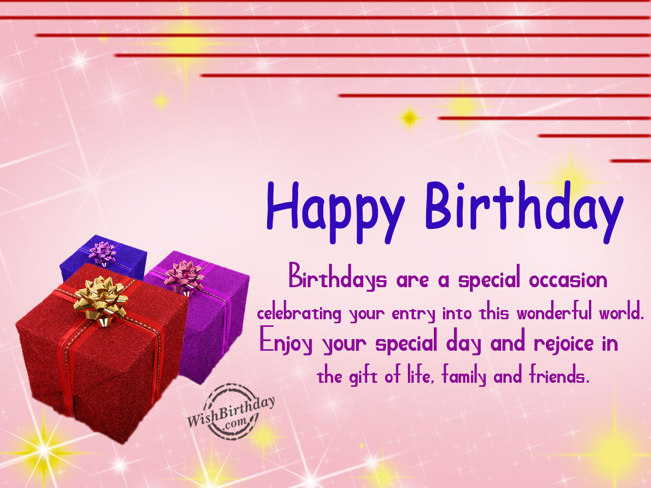 Birthday Wishes With Gifts - Birthday Images, Pictures