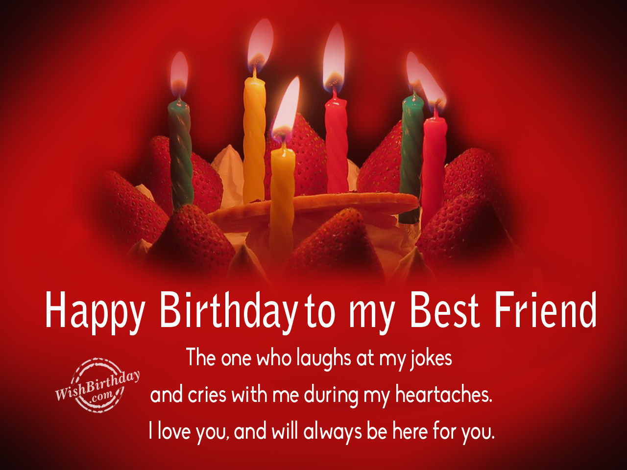 Birthday wishes for best friend birthday images pictures happy birthday to my best friendthe one who laughs at my jokes kristyandbryce Gallery