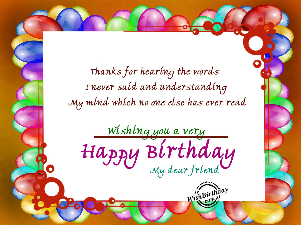 Birthday Wishes For Best Friend - Birthday Images, Pictures