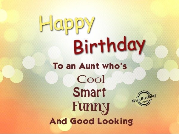 Happy Birthday to an aunt