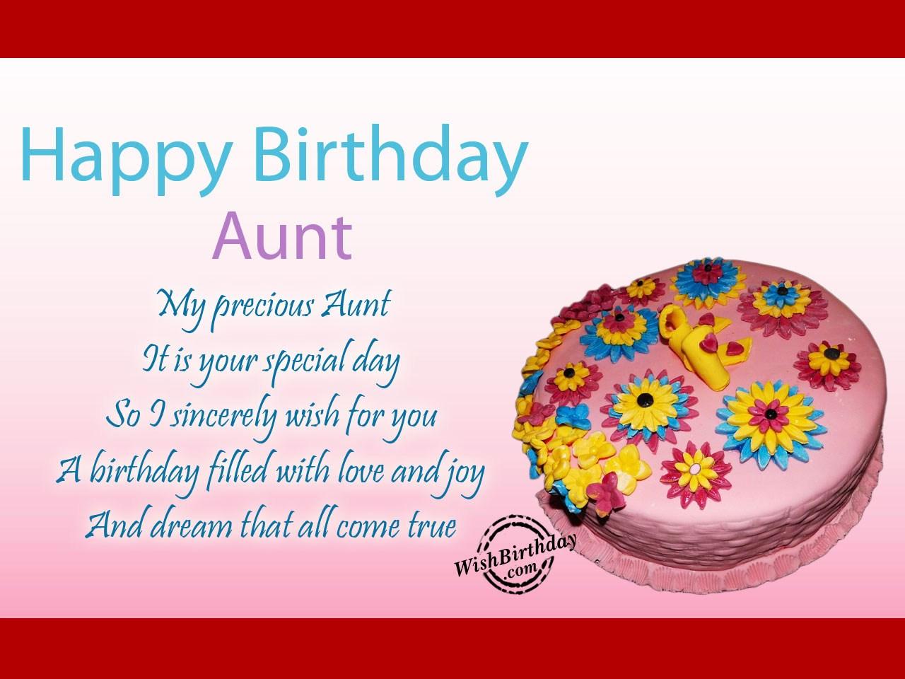 My precious aunt it is your special day wishbirthday my precious aunt it is your special day kristyandbryce Choice Image
