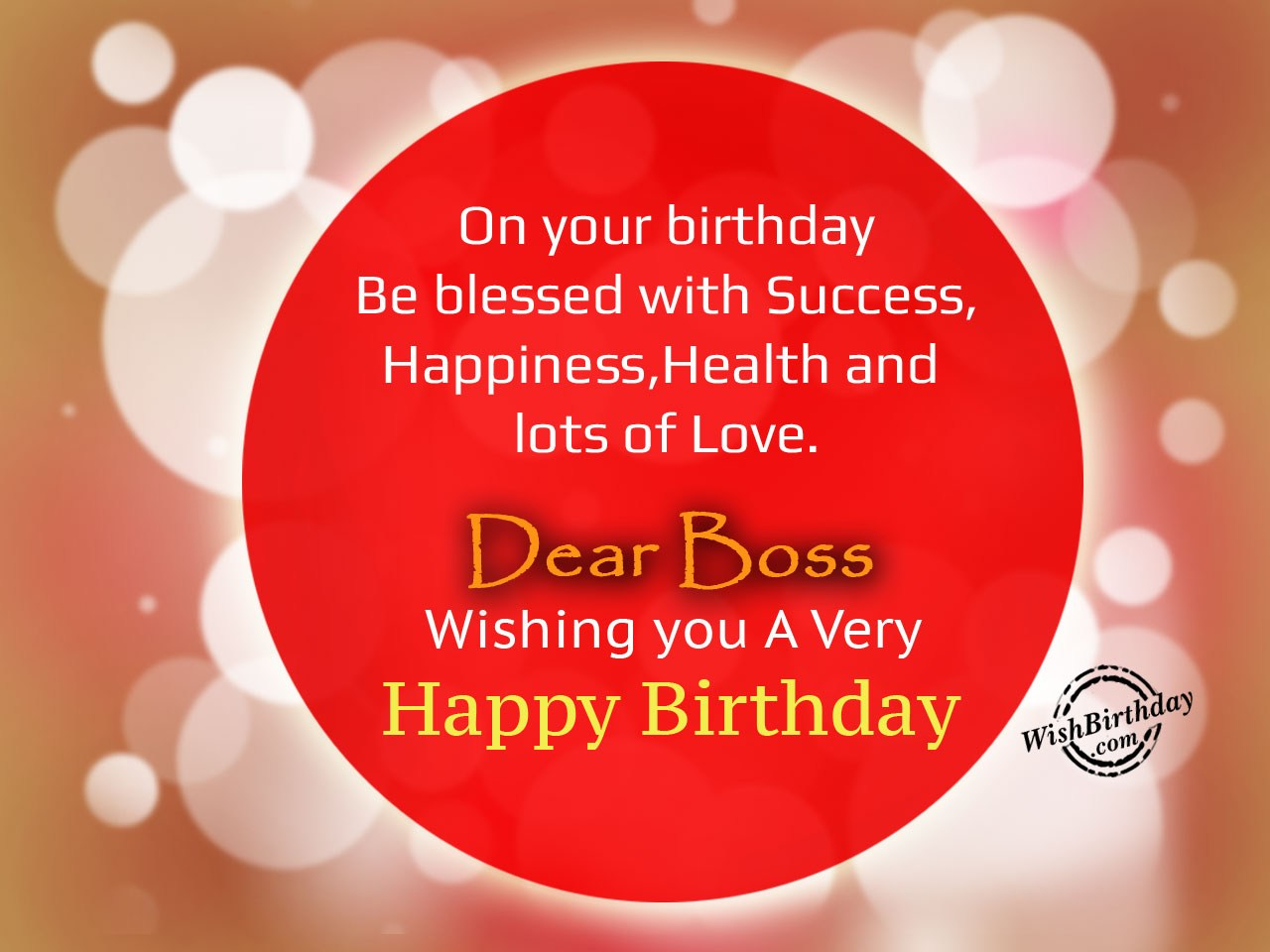 Birthday Wishes For Boss Birthday Images Pictures
