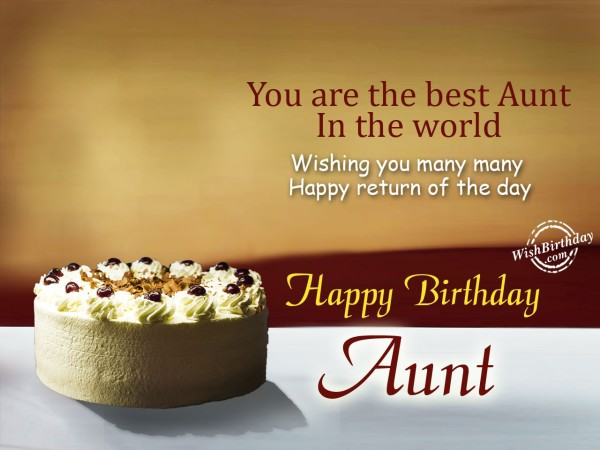 You are the best aunt in the world