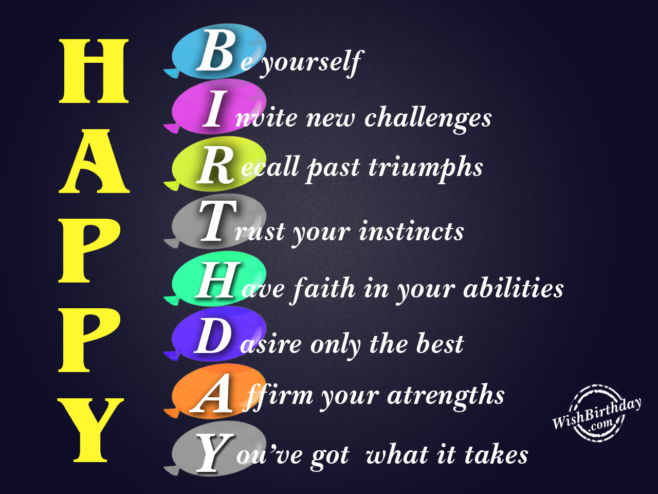 Be YourselfHappy Birthday WB06