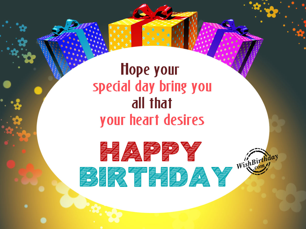 Birthday wishes with gifts birthday images pictures hope your day filled with happinesshappy birthday wb09 m4hsunfo