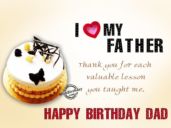 I love you father,Happy Birthday-WB2
