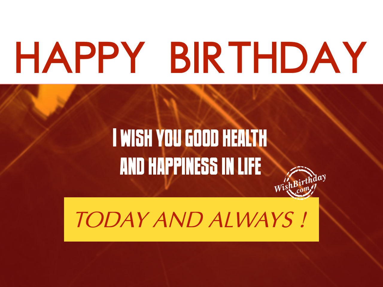Happy Birthday Message Good Health ~ Birthday wishes with blessings images pictures