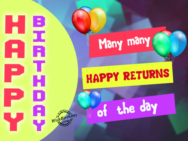 Many many happy returns of the day,Happy Birthday-WB03