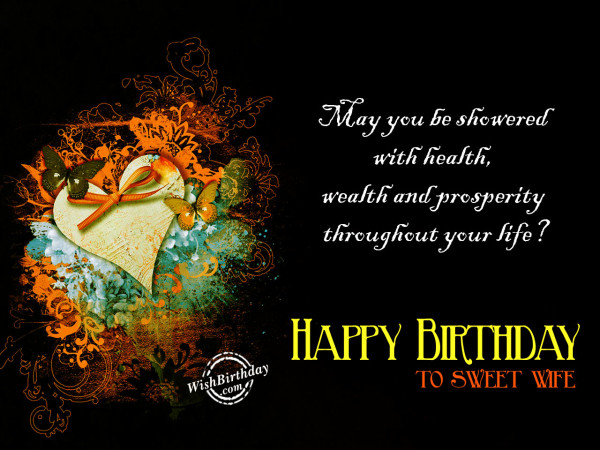May you be showered with health,Happy Birthday-WB210