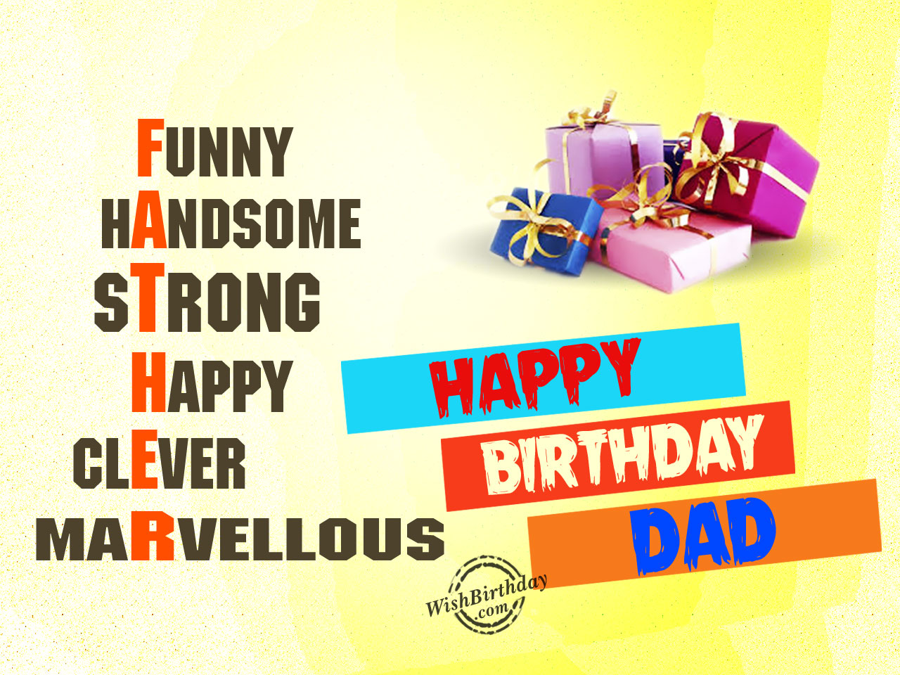 Meaning Of Father Happy Birthday WB5