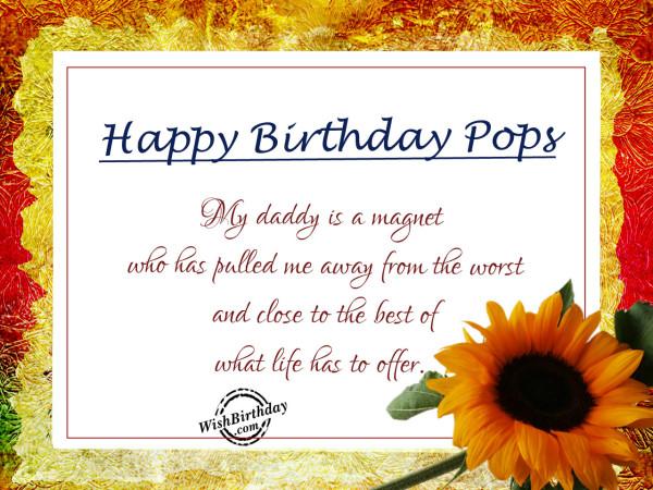My daddy is magnet,Happy Birthday-WB7