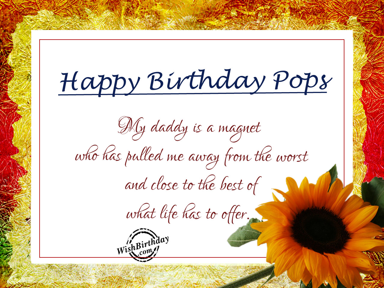 Birthday wishes for father birthday images pictures my daddy is magnethappy birthday wb7 m4hsunfo
