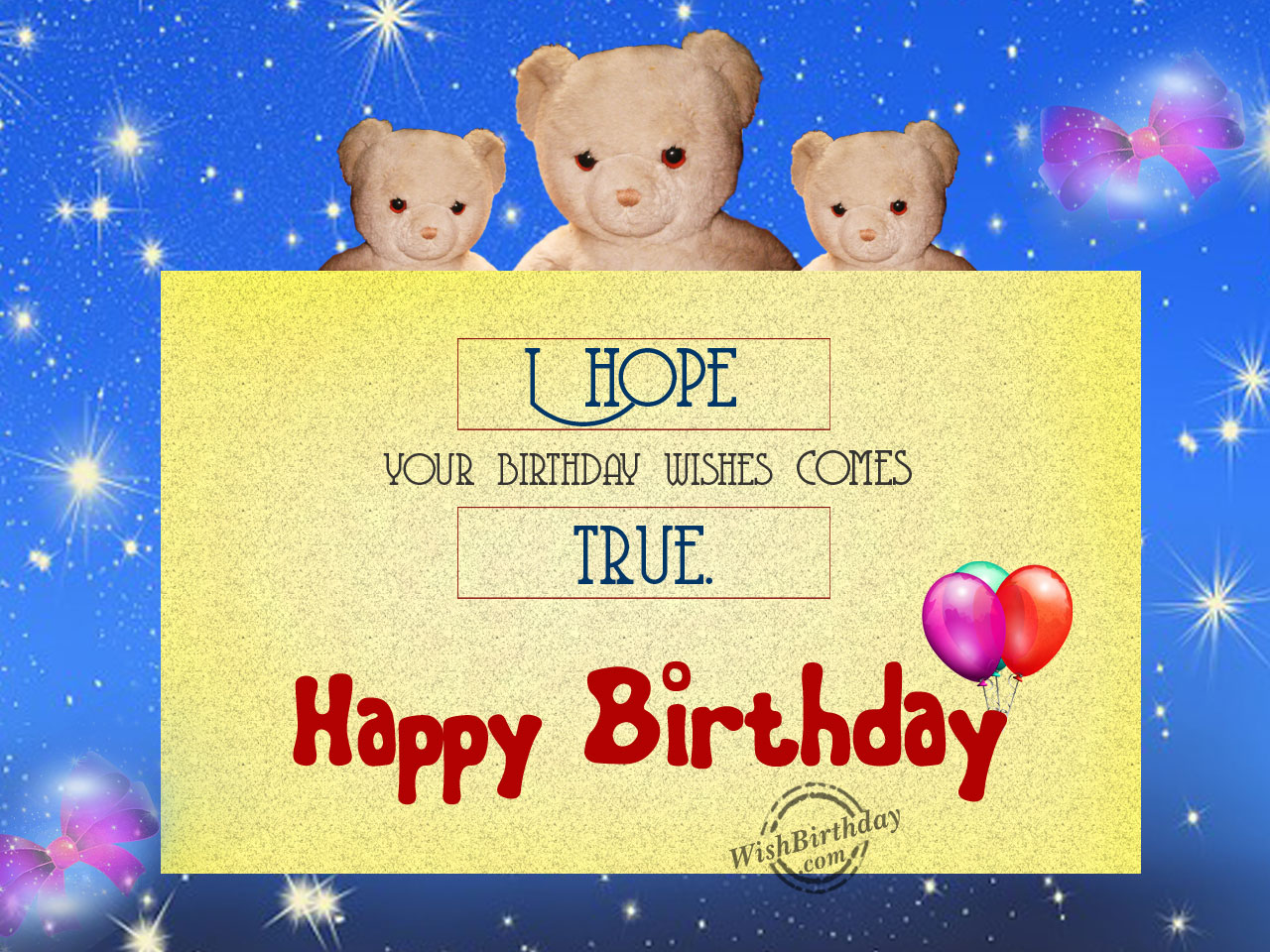 Birthday Wishes With Teddy Bear - Birthday Images, Pictures