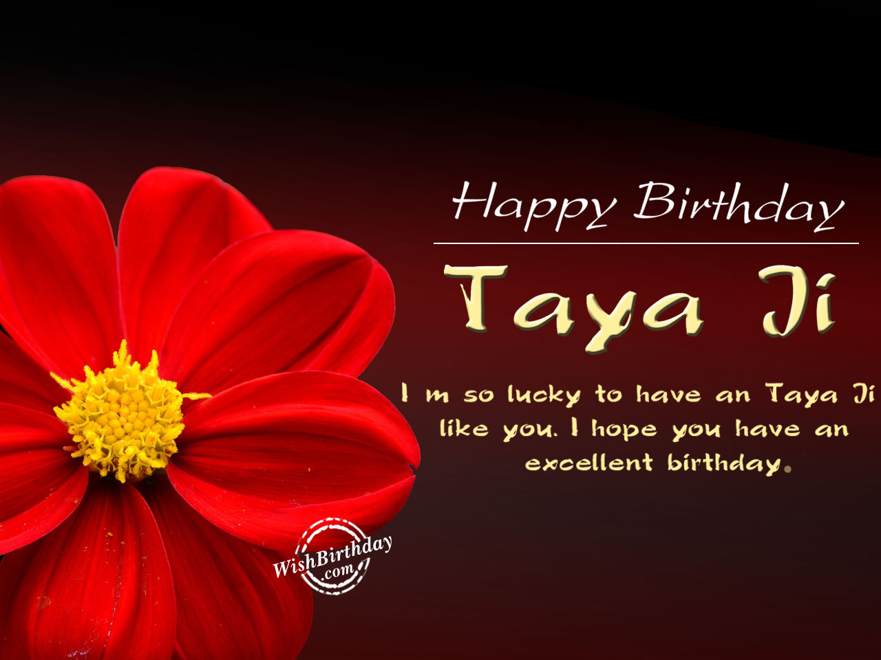 Happy Birthday Dear Taya Ji - WishBirthday.com